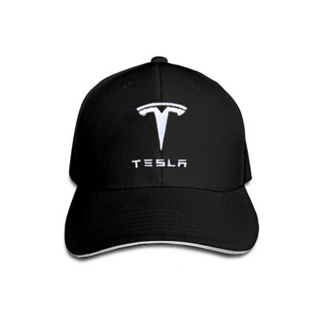 Adjustable Baseball Hat Fashion Sunshade Cap with Tesla Logo Black Sport Hat for Tesla Model S X Universal for Men Women