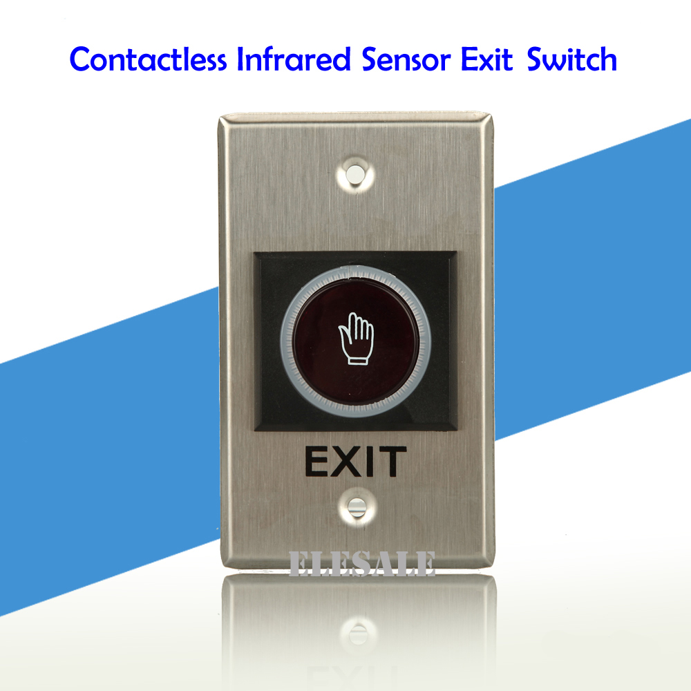 Contactless Infrared Sensor Exit Button 115x70mm Door Release Automatic Switch With LED Indication For Access Control System thyssen parts leveling sensor yg 39g1k door zone switch leveling photoelectric sensors