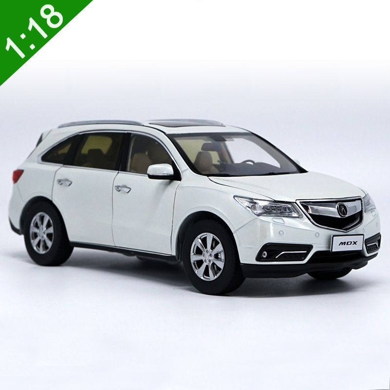 1:18 Acura MDX Alloy Diecast Car Model Toys White Red For