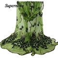 Women Peacock Embroidered Scarf Shawl Ladies Autumn Winter Lace scarves Shawl High quality from india foulard twilly WSep12