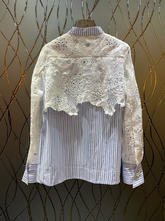 Porter Soluble L'eau Et 2018 Petit Longues Dans De Manches Automne Hiver Shirt1113 Bande Décoration Blouse Femmes Multi Col wIzq0UIZ
