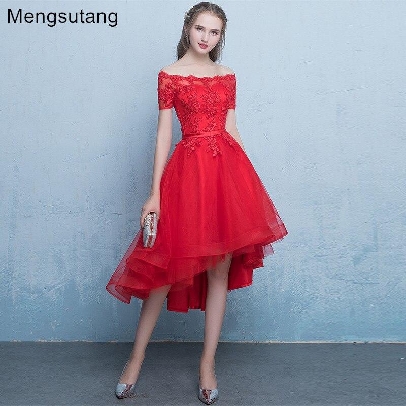 Robe de soiree 2017 Naujas atvykimas Raudonojo nėrinių vestuvinė - Ypatinga proga suknelės
