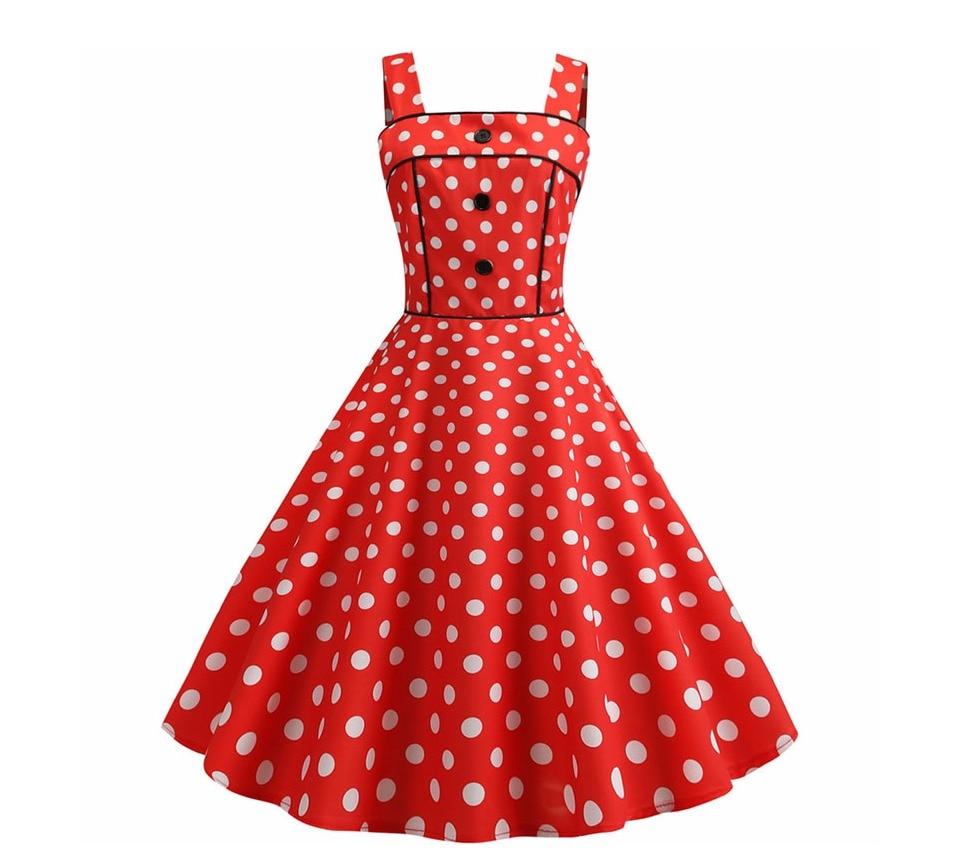 Koktejlové Retro párty šaty jednofarebné prešívaný lem bodky (5 variánt) 17