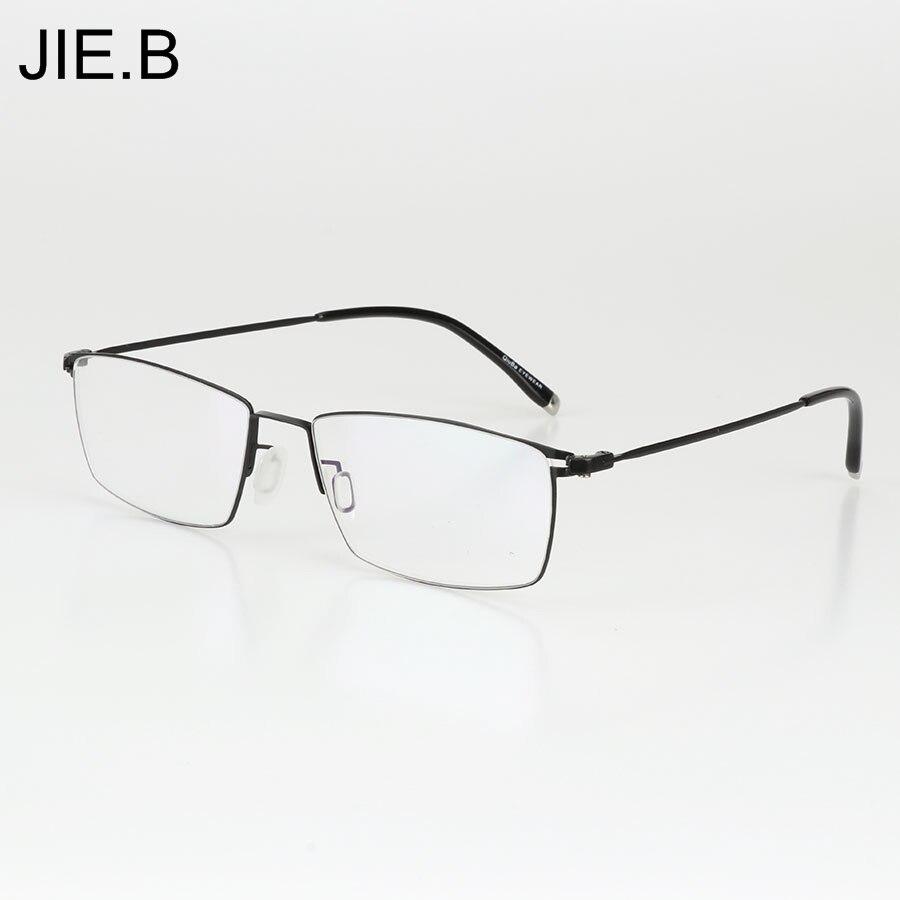 B Novo Ultra Leve de liga de Titânio Óculos de Armação Para Homens Armações  de Óculos de Miopia Quadro dos homens Clássicos Oculos de grau em Armações  de ... 52c22b4b64