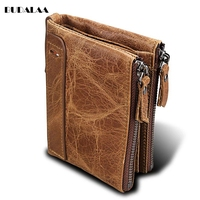 A Leather Wallet For Men S Wallet And A Double Zipper Wallet For Men S Wallets