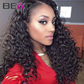 Glueless Brazilian Deep Wave Full Lace Wigs Brazilian Virgin Hair Lace Front Human Hair Wigs Brazilian Curly Lace Front Wig
