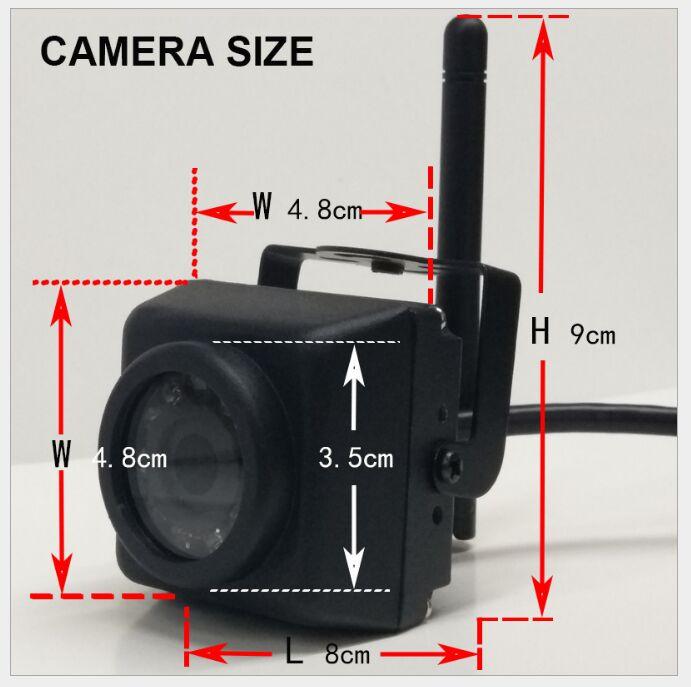 Mini caméras IP sans fil à fil étanche IR vision IP66 caméras miniatures sans fil Camhi APP 2MP fonctionnent avec Hikvision DaHua NVR