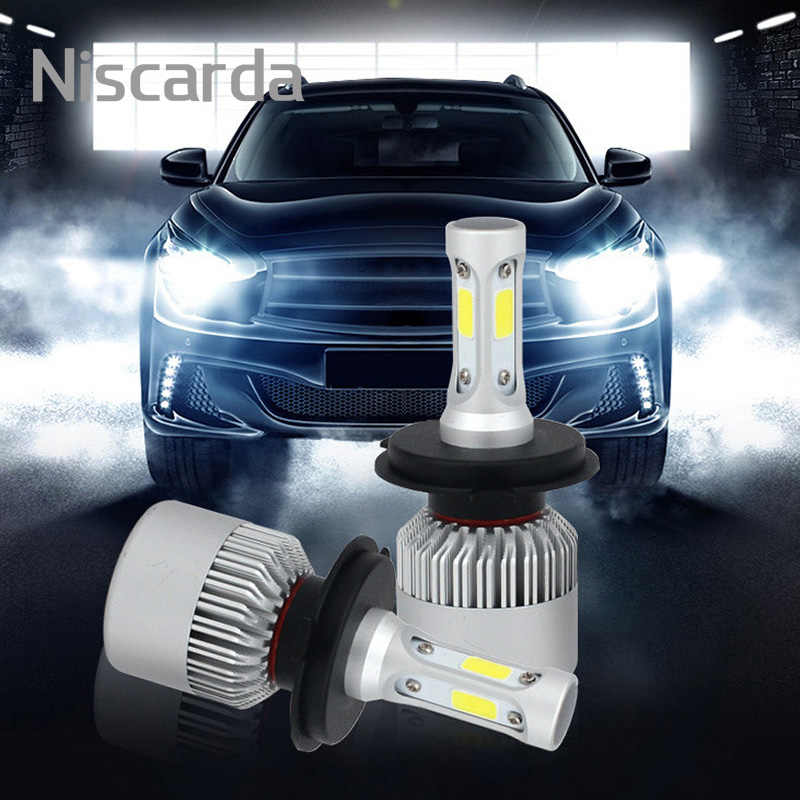 Niscarda 2Pcs H7 LED LED Headlight Bulbs H1 H3 H4 H8 H11 9004 9005 9006 72W 8000LM 6500K White Auto Headlamp