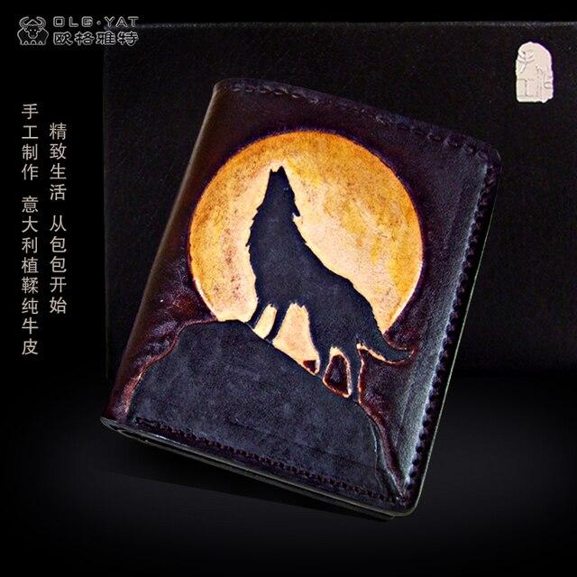 3eb5e517b3eda Wilk YAT handmade rzeźba portfel męski krótki akapit (w pionie) torebka