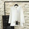 White Shirts for women Large size blouse shirt cartoon cat print long sleeve shirt female pink blusa TY05