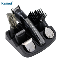 100 240V kemei 6 in 1 electric shaver hair trimmer titanium hair clipper shaving machine cutting nose beard trimmer men razor
