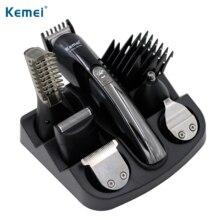 100 240V kemei 6 in 1 electric shaver hair trimmer titanium hair clipper shaving machine cutting