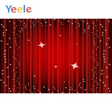 Yeele Glitter Star Gradient Red Curtain Background Scene Baby Photography Vinyl Props Kid Photographic Backdrop For Photo Studio