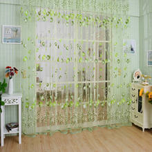 1M*2M Floral window curtains/Clip for living room the bedroom kitchen modern tulle curtains window treatment blinds drapes home(China)