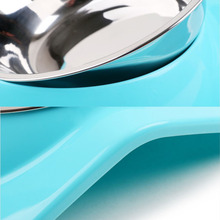 Stainless Steel Bowls Pet Feeder 3 colors
