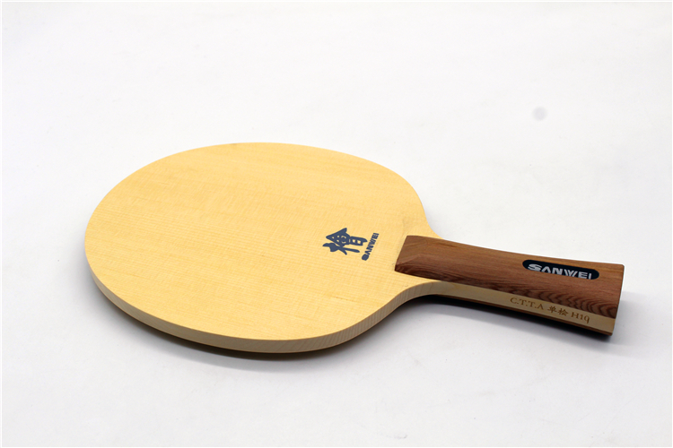 SANWEI Original H10 (1-Ply HINOKI) Table Tennis Blade Solid Cypress Ping Pong Bat Paddle original sanwei h10 hinoki penhold short handle cs table tennis pingpong blade