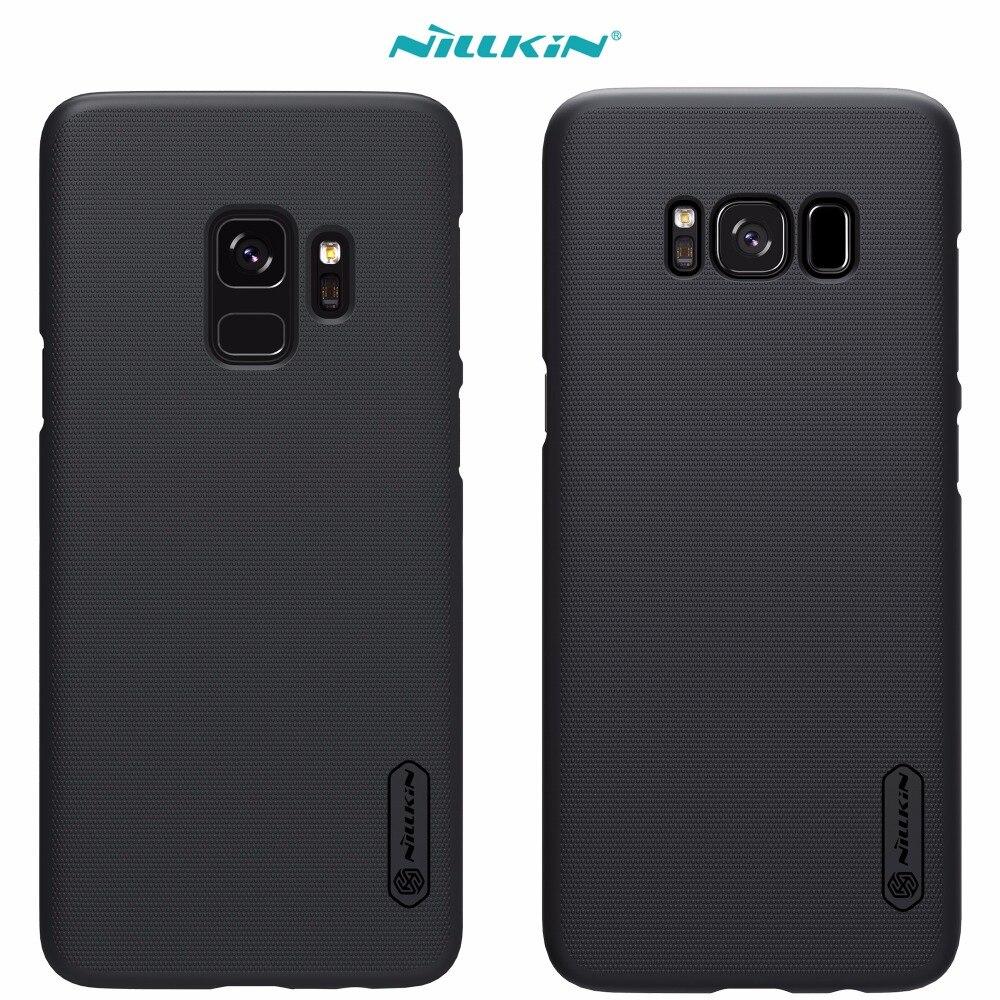 Caso para Samsung Galaxy S9 S8 más S4 nillkin Super escudo helado con protector de pantalla libre y al por menor paquete