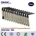 DHL Бесплатная доставка 3 года гарантии 13 шт 2 4G беспроводной передатчик по протоколу DMX
