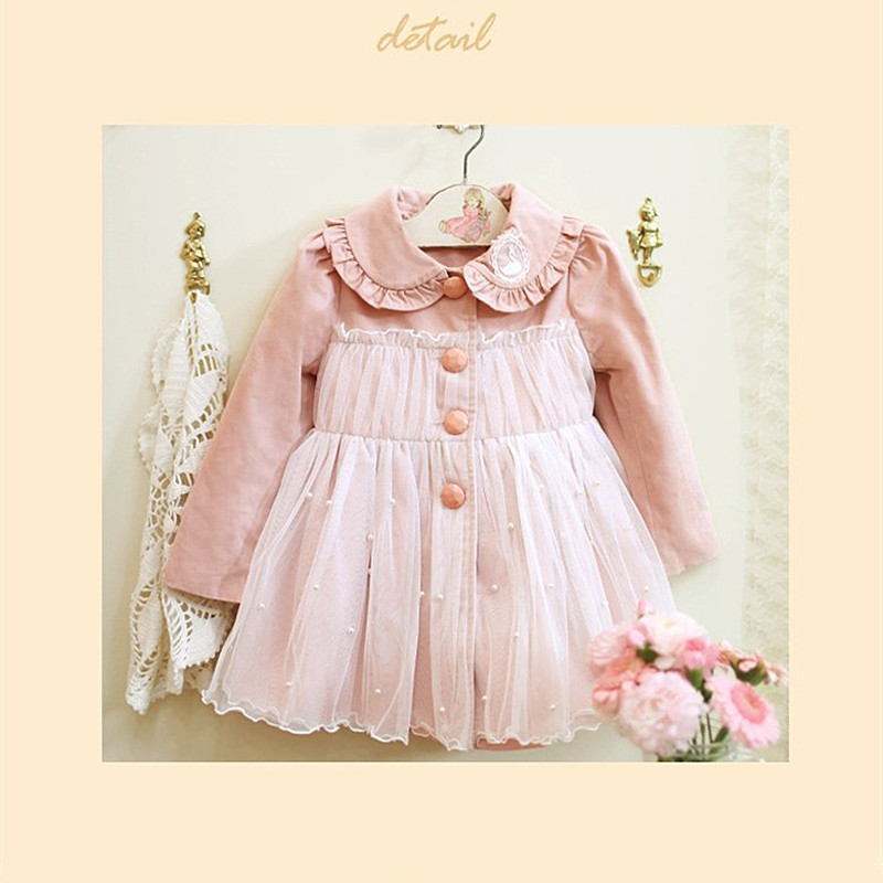 ФОТО Anlencool Free Shipping Girls Coat  Autumn New Korean Children's Clothing Female Baby Princess Lace Long-sleeved Girls Jacket
