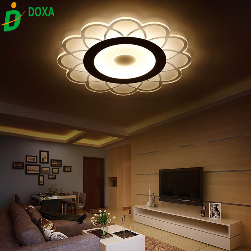 2017 led acrylic modern ceiling lights living room light bedroom acrylic lamp design lighting. Black Bedroom Furniture Sets. Home Design Ideas