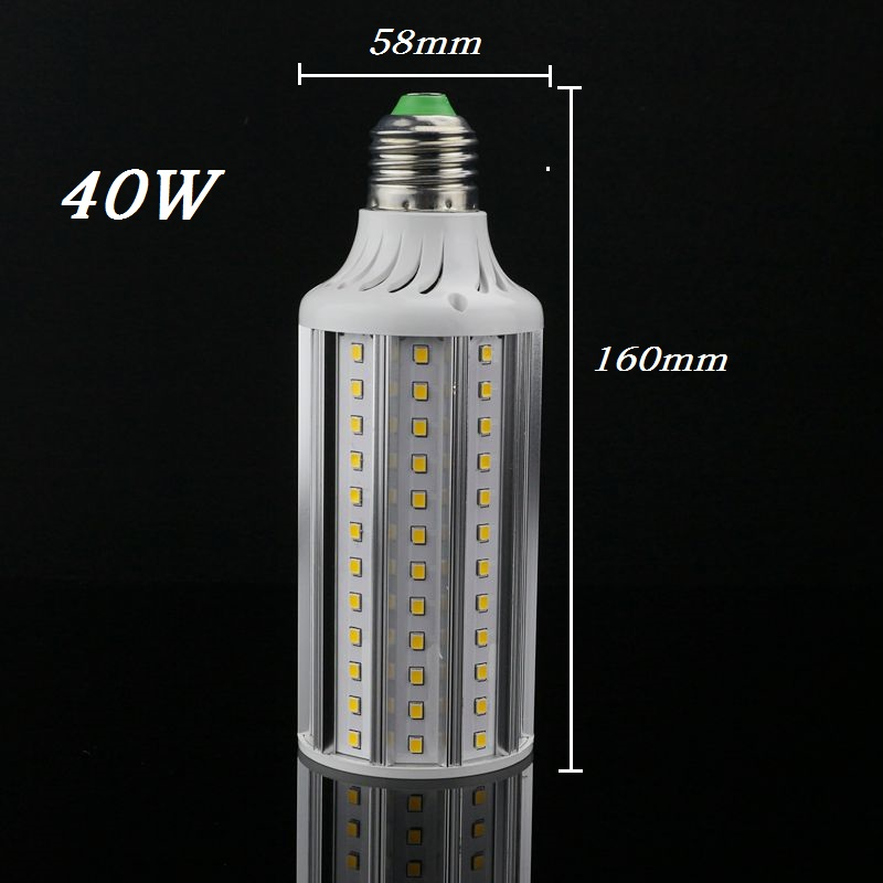 High Power 110v 220v LED Lamp E27 40W corn bulb Spot Light SMD2835 lamparas Warm Cold white Christmas Chandelier Candle Lighting 1pcs super bright 3w 4w 5w 6w 7w gu10 led bulb spot light lamp 110v 220v dimmable gu10 smd 5050 2835 lighting warm cold white