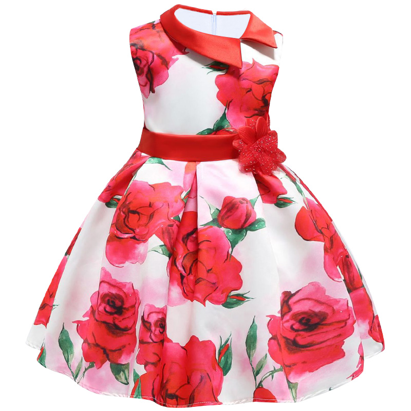 ALI shop ...  ... 32920065740 ... 4 ... 2018 New Summer Girls Birthday Wedding Party Princess Dresses Kids Printing Dress Girl Christmas Prom Dress 2-9 years old ...