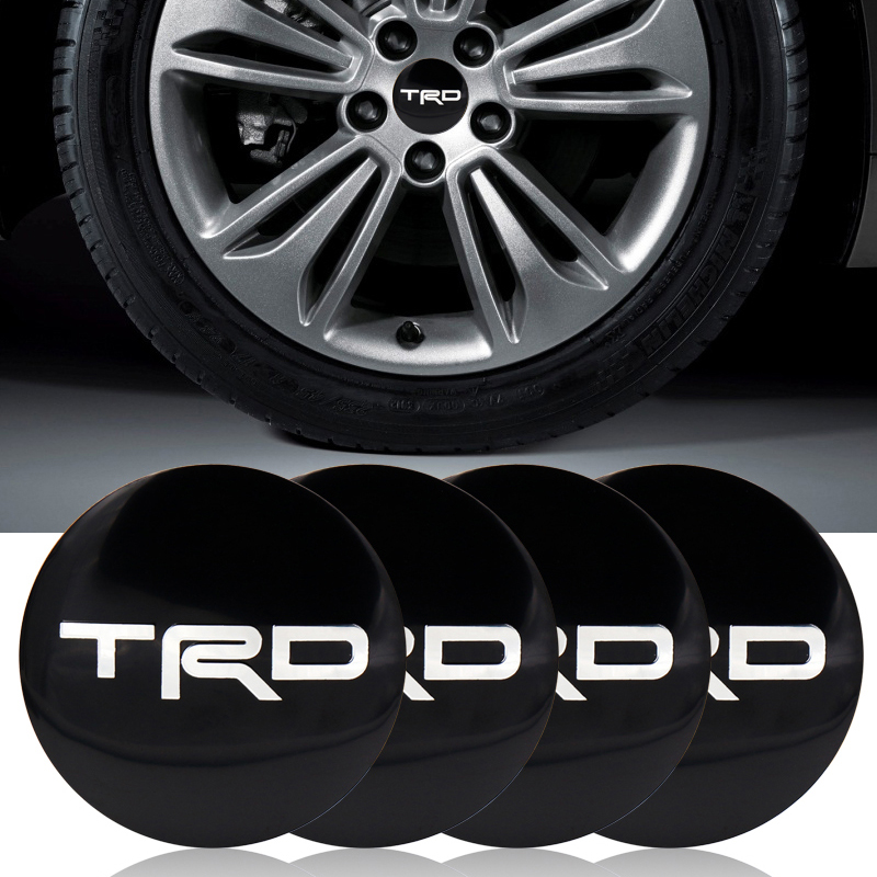 4pc TRD Racing 56.5mm Sticker Wheel Center Hub Caps Wheel Dust-proof Emblem Covers Label Auto Accessories Car Styling For Toyota