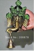 HDC0709 Непал металла слон Бог, латунь домашнего декора искусства, дверной звонок ручка, из металла народного искусства