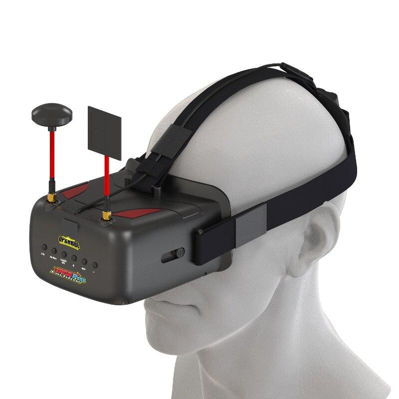 Высокое качество Нибиру VR D2 Pro 5 дюйм(ов) 800*480 40CH 5,8 Г разнообразие FPV очки ж/DVR объектив регулируемая для модели RC