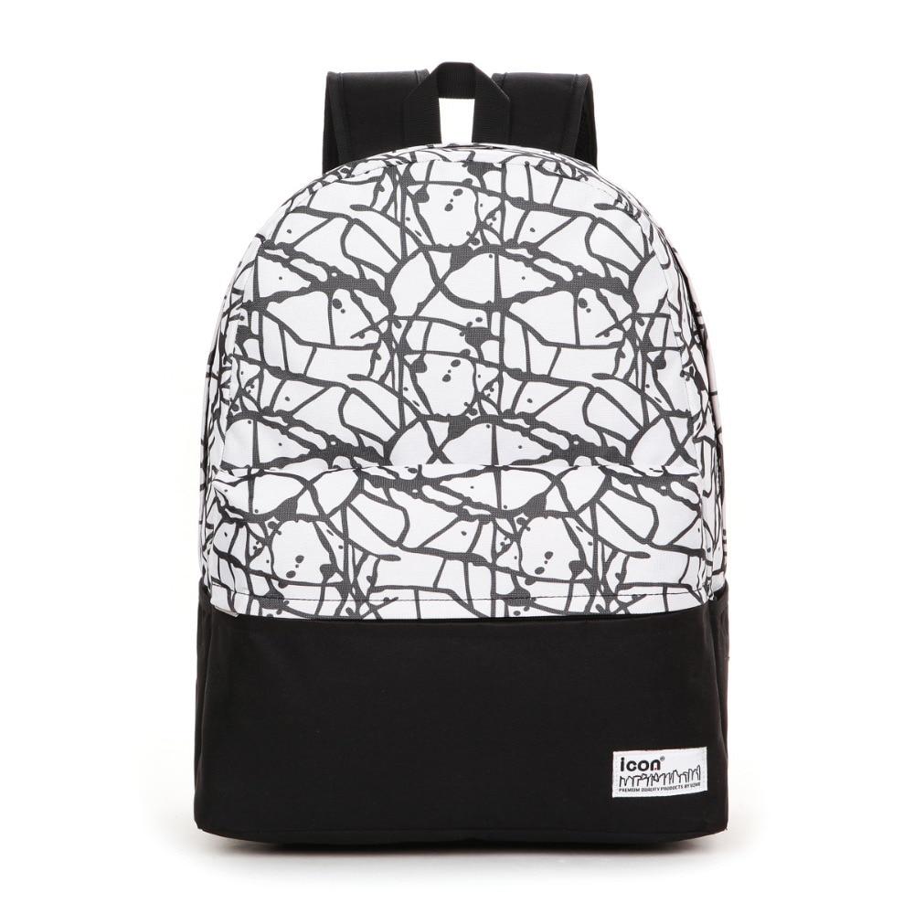 School bags for youth - Women S Girls Waterproof Laptop Backpacks Men S College Book Bags Youth Vintage School Bag Colorblock Childern Printing Backpack In Backpacks From Luggage