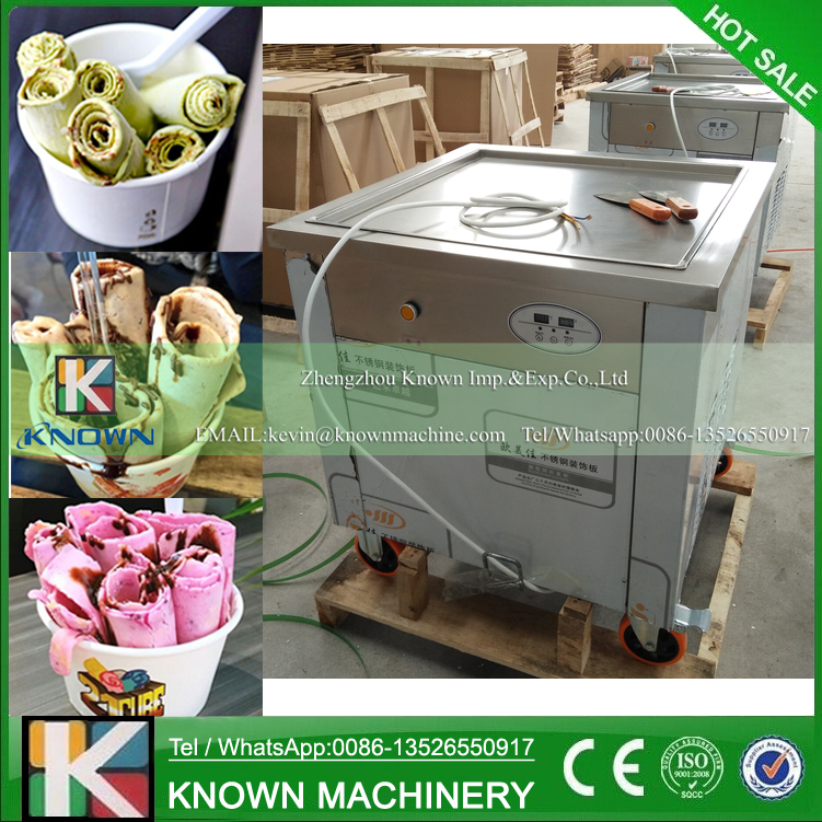 Free shipping to supply the 60*60 cm big single square ice pan machine / fried ice cream roll machine (220V / 110V voltage)Free shipping to supply the 60*60 cm big single square ice pan machine / fried ice cream roll machine (220V / 110V voltage)