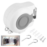 New 1 set 13M Retractable Clothesline Elastic Washing Line Home Socks Underwear Clothes Hanger Windproof Stretch Drying Rack