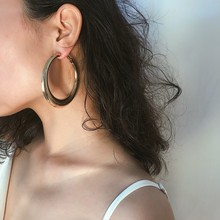 2019 New Gold Hoops Earrings Minimalist Thick Tube Round Circle Rings Earrings For Women earrings fashion Jewelry yeemeng 585 rose gold large hoops earrings minimalist thick tube round circle rings earrings for women copper plated trendy punk
