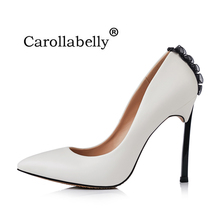 2019 New Brand Shoes Woman High Heels Women Pumps Pointed Toe Stilettos Shoes Party Wedding Ribbons Shoes Big Sizes 33-43