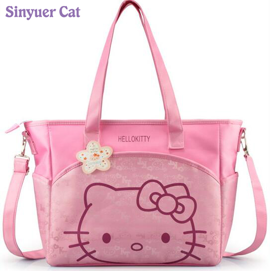 Canvas Baby Diaper Bag For Mom Mummy Mother Hello Kitty Maternity Nappy Bags High Qaulity Thermal Insulation Stroller Bag