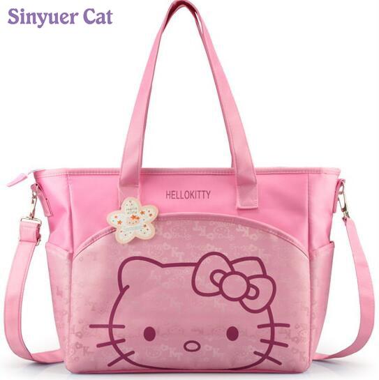 Canvas Baby Blöja Väska För Mamma Mamma Mor Hello Kitty Maternity Nappy Väskor High Qaulity Termisk Isolering Barnvagn Väska