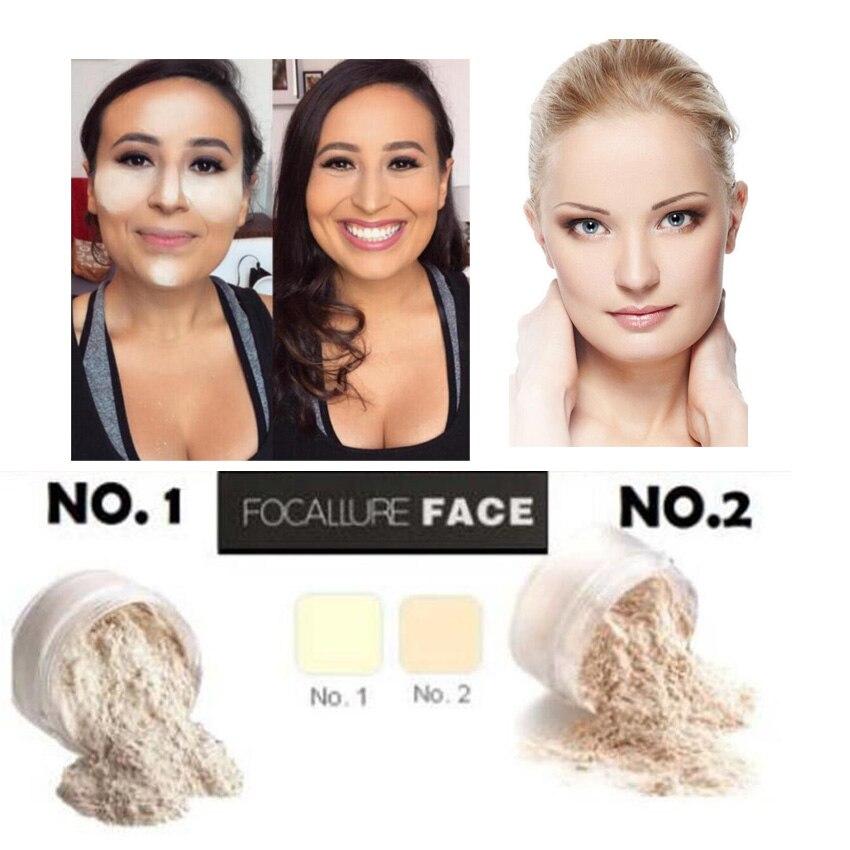 FOCALLUR Lose Einstellung Gesicht Pulver Transluzenten öl-control natürliche zutat einstellung pulver erhellen wasserdicht 2 Farbe Wählen