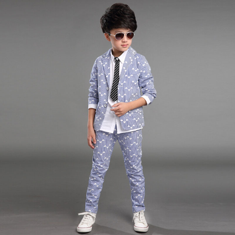 VORO BEVE boy kid formal suits boy blazer suit set children boy blazer jacket pants classic