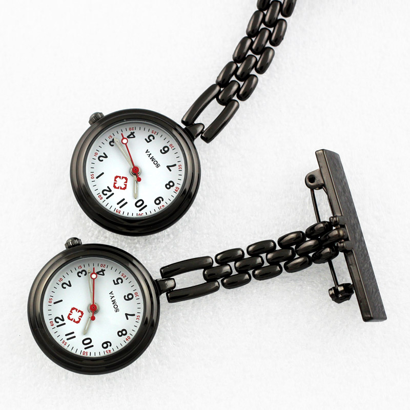 Watches for nurses Quartz Pocket Nurse Clock Doctor Stainless Steel Chain Brooch Fob Watch Hanging Full Metal Nursing Watches 1pc mini portable silicone men women unisex watch doctor nurses pocket fob watches multiple colors brooch pin pendant 4 color