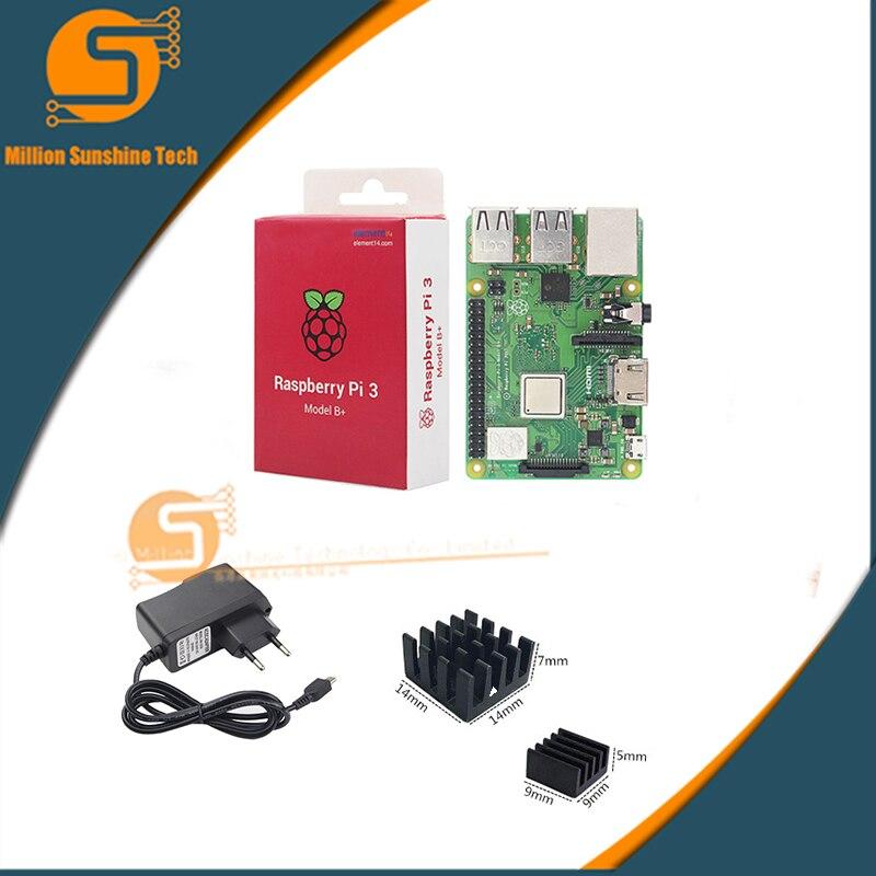 Raspberry Pi 3 Модель B + Plus starter kit PI 3 доска + теплоотвод + 5 В 2.5A Мощность Бесплатная доставка