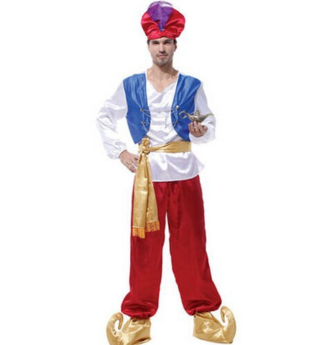 Aladdin costumes arabic clothing for men arab clothes arab costume arab prince costumes halloween cosplay costumes for men