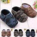 2016 пу замши новорожденный мальчик девочка мокасины мягкие Moccs Bebe бахрома мягкой подошве non-slip обувь чистка