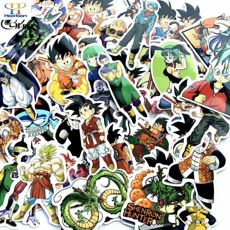 50pcs/lot Japan cartoon Dragon Ball stickers For suitcase laptop skateboard motorcycle PVC toys Waterproof decal gifts