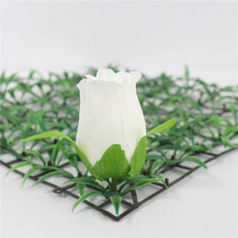 DIY искусственный бутон розы Шелковый декоративный цветок отель фон Дорога светодиодный свадебный цветок настенные материалы головы 100 шт/партия