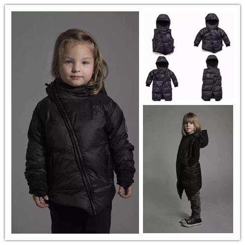 INS 2016 WINTER KIKIKIDS NUNUNU SKULL PATTERN KIDS WINTER DOWN COAT BABY BOY CLOTHES CHILDREN OUTWEARS