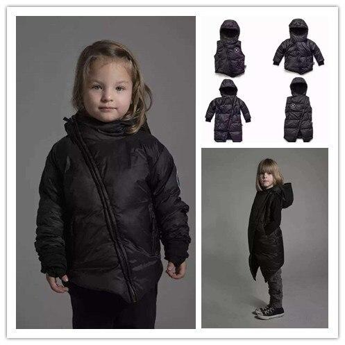INS 2016 WINTER KIKIKIDS NUNUNU SKULL PATTERN KIDS WINTER DOWN COAT BABY BOY  CLOTHES CHILDREN OUTWEARS JACKETS  BOYS CLOTHING