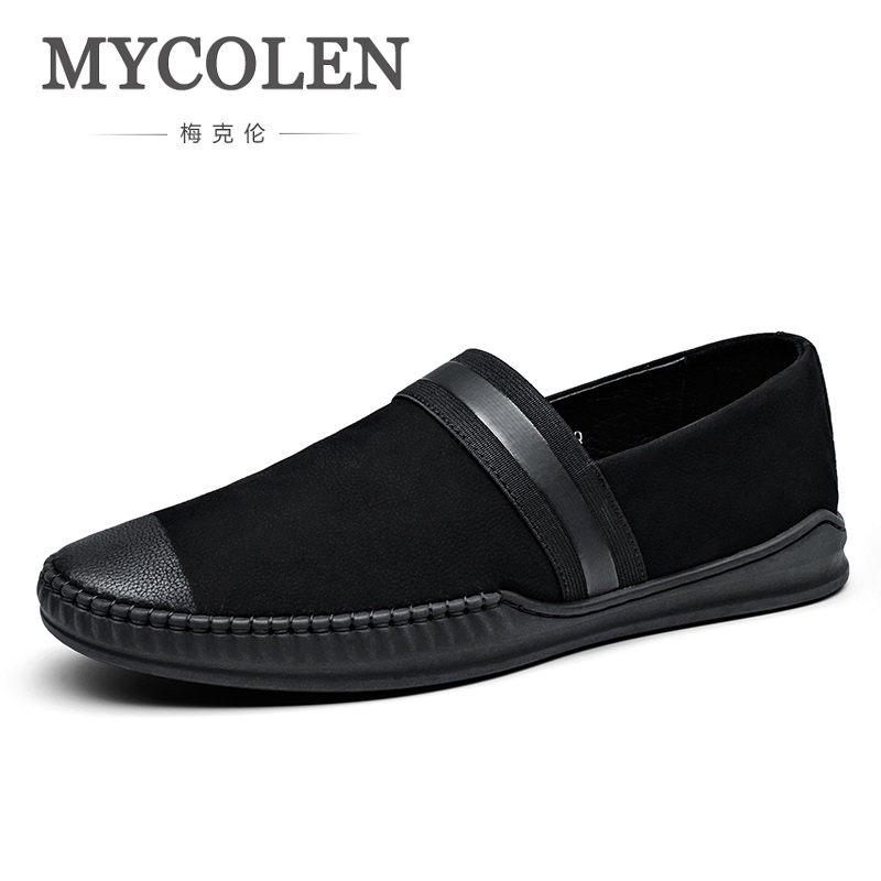 MYCOLEN 2018 Summer Genuine Leather Casual Shoes For Male Breathable Loafers Flats Footwear Walking Comfortable Men Shoes high quality canvas men casual shoes breathable fashion footwear male loafers shoes black mens shoes sales flats walking shoes