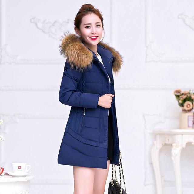 2016 moda otoño e invierno mujeres abrigo Caliente abajo chaqueta chaqueta de algodón envío libre