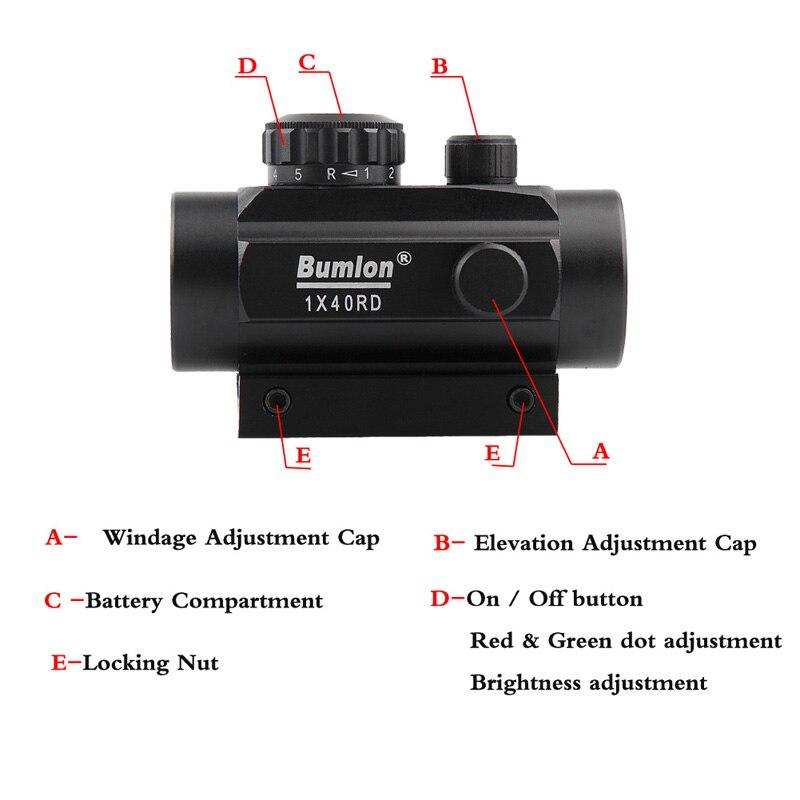 Visor compacto com lente de aumento 3x,