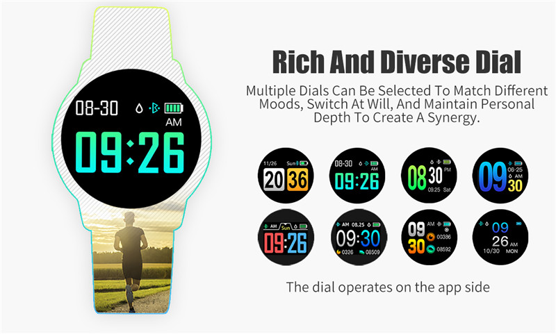 MAFAM Q8 Smart Watch OLED Color Screen Smartwatch Men Women Fashion Fitness Tracker Heart Rate Monitor For IOS Android Watch (17)